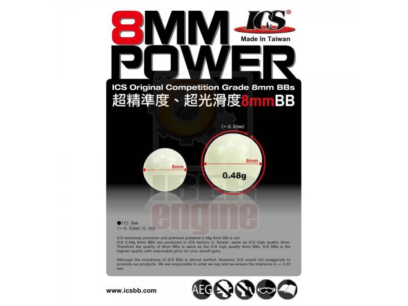ICS MC-182D 0.48g 52.083PCS/25KG Bag (8mm)