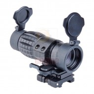 AIM-O ET Style 4X FXD Magnifier with Adjustable QD Mount