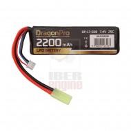 DRAGONPRO DP-L7-028 7.4V 2200mAh 25C LiPO 105x34.5x16mm