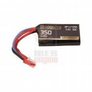 DRAGONPRO DP-L7-032 7.4V 350mAh 30C HPA Mini LiPO 40x20x12mm