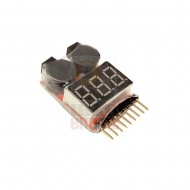 DRAGONPRO DP-VT001 LiPO Voltage Tester & Low Voltage Buzzer 1S-8S