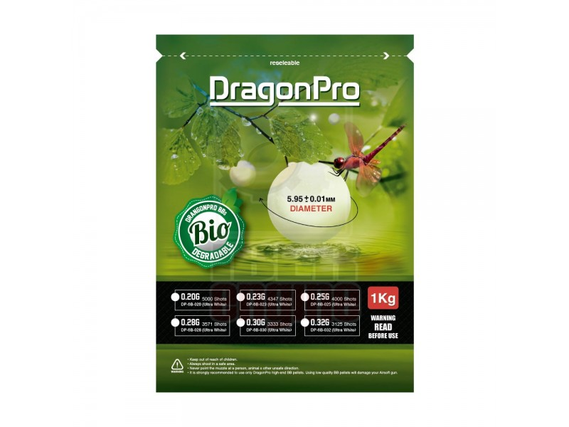 DRAGONPRO DP-6B-036 Bio PLA BB 0.36g 1KG (ULTRA White)