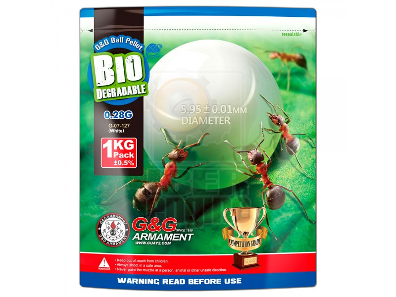 G&G Bio BB 0.28g / 1KG Aluminum Foil (White) / G-07-127