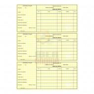 Tarjeta Amarilla Registro Armas 4ª Categoría (Tríptico)